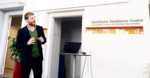 Christian Felber besöker Stockholm Resilience Center